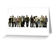 The Walking Dead Cast Greeting Card