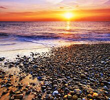 Thorpeness Beach Suffolk 1. by Wayne Bradshaw