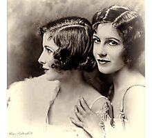 Twin sisters Photographic Print
