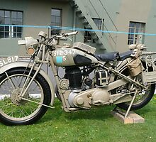 WW2 British Army Motorcycle by Woodie