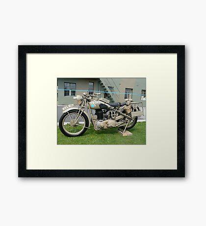 WW2 British Army Motorcycle Framed Print