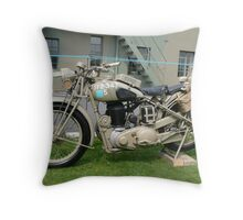 WW2 British Army Motorcycle Throw Pillow