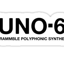 Black Juno 60 Synthesizer Sticker