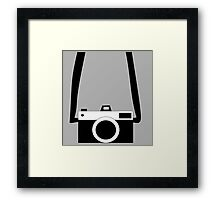 Black and White Camera  Framed Print