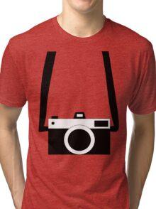 Black and White Camera  Tri-blend T-Shirt