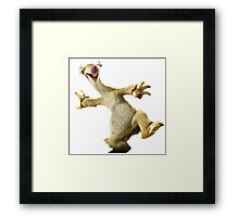 Ice Age - Sid the sloth Framed Print