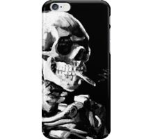 Van Gogh Skull with burning cigarette iPhone Case/Skin