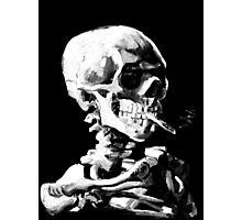 Van Gogh Skull with burning cigarette Photographic Print