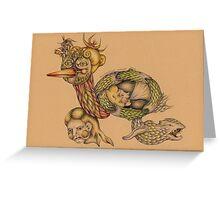 Medieval Monster Greeting Card