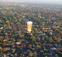 a beer over Melbourne by Alihogg