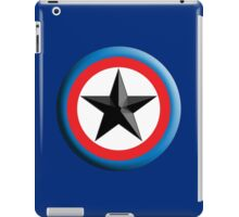 Bulls Eye, Right on Target, Roundel, Archery, Star, on Dark Blue iPad Case/Skin