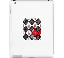 White Black and a touch of red Abstract iPad Case/Skin