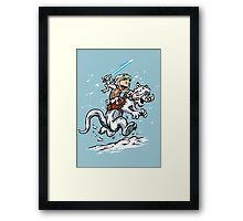 Calvin and Hoth Framed Print