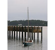 dingy by the dock Photographic Print