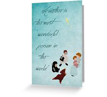Peter Pan inspired Mother's Day design. Greeting Card