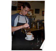 Latte'  Artist At Work Poster