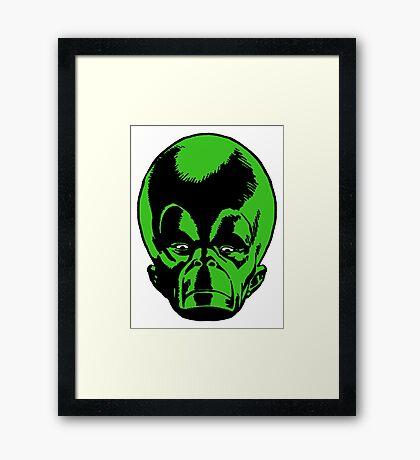 Big Green Mekon Head  Framed Print