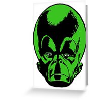 Big Green Mekon Head  Greeting Card