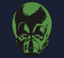 Big Green Mekon Head  Kids Tee
