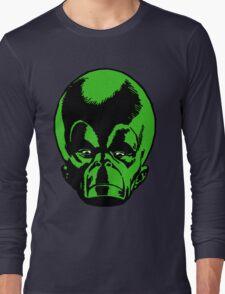 Big Green Mekon Head  Long Sleeve T-Shirt