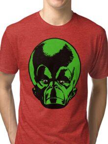 Big Green Mekon Head  Tri-blend T-Shirt