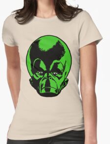 Big Green Mekon Head  Womens Fitted T-Shirt