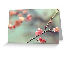 Pink Ume Greeting Card