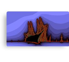 Old Castles - an abstract view Canvas Print