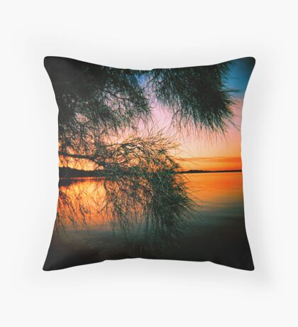 Lake of Fire Throw Pillow