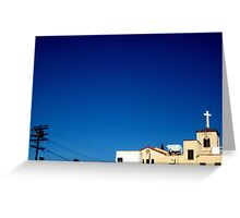 Cross in the sky Greeting Card