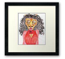 Kate Bush Lion Framed Print