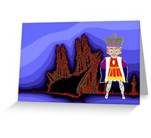 Toon Boy 22 King & Castle Greeting Card