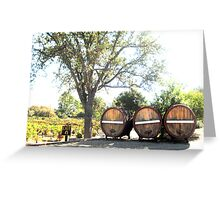 Lincourt Wine Barrels  Greeting Card