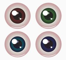 Eye Balls of Different Colors 4 Kids Tee
