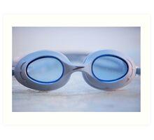 Swim Goggles Art Print