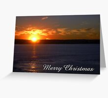 Sunset, Merry Christmas Greeting Card