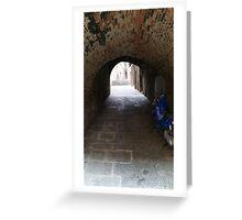 Moped in Italian Tunnel Greeting Card