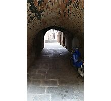 Moped in Italian Tunnel Photographic Print