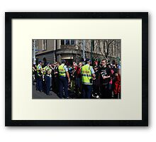 Rally for the legalisation of abortion Framed Print