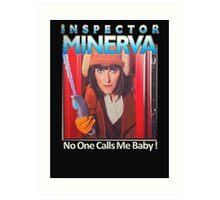 Inspector Minerva tee Art Print