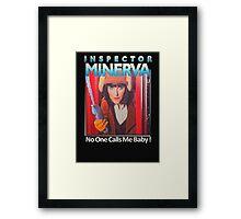 Inspector Minerva tee Framed Print