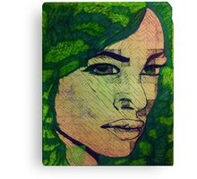 A Female of Past - I admit Canvas Print