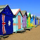 Brighton Beach Huts by Keith G. Hawley