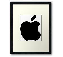 Apple Simplistic Framed Print