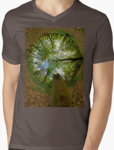 Butterfly Sculpture in Prehen Woods, Derry (Sky-in) Mens V-Neck T-Shirt