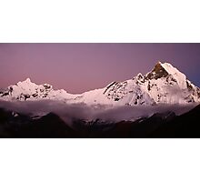 Sunset over Macchapuchre (Annapurna Region, Nepal) Photographic Print