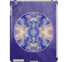 Flower of Life Blue iPad Case/Skin