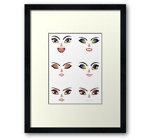 Facial Expression of Woman 7 Framed Print