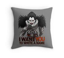 Write a name. Throw Pillow