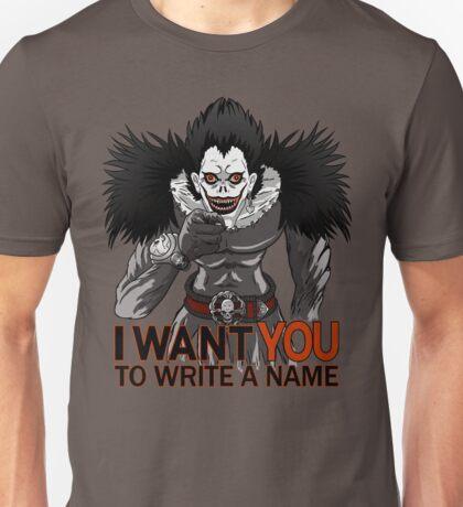 Write a name. Unisex T-Shirt